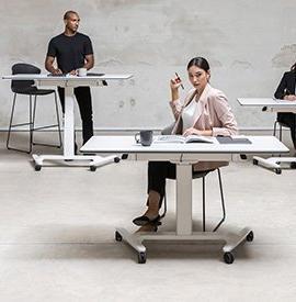 Bureau Assis Debout Table Reglable En Hauteur Bureau Ajustable Professionnel
